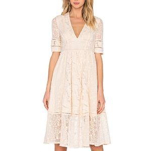 Free People Mountain Laurel Midi Dress Size 8